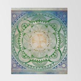 Metta Mandala, Loving Kindness Meditation Throw Blanket