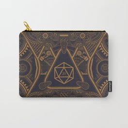 Steampunk Nat20 Critical Hit D20 Dice Tabletop RPG Gaming Carry-All Pouch
