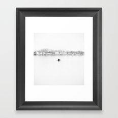 ice cold fishing Framed Art Print