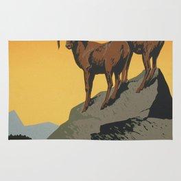 Vintage poster - National Parks Rug