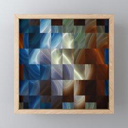 Metal Squares Framed Mini Art Print