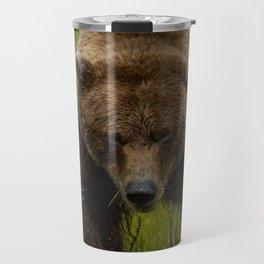 brown bear bear grass thick Travel Mug