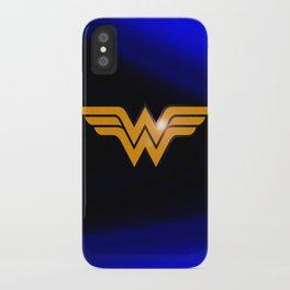 WonderWoman emblem insígnia Wonder Gold, Diana Prince, warrior princess of the Amazons iPhone Case