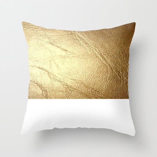 White Gold Throw Pillow : GolD & wHiTe Throw Pillow by CVogiatzi. Society6