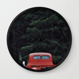 International, Red Montana Wall Clock