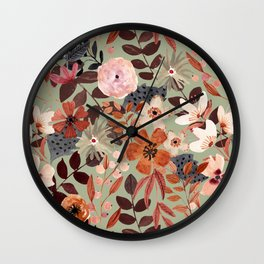 Kaitlyn Watercolor Floral No. 4 Wall Clock