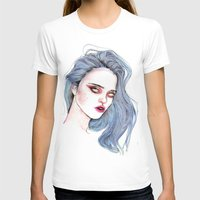 sky ferreira T-shirts featuring Sky Ferreira /  Blue  by Lucas David