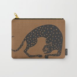 Blockprint Cheetah Carry-All Pouch