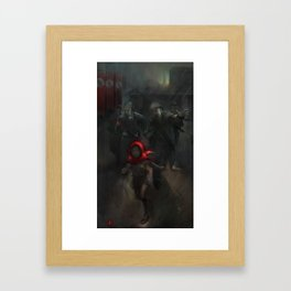 Girl with the red hood Framed Art Print