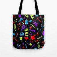 nurse Tote Bags featuring Cool Nurse by emodist