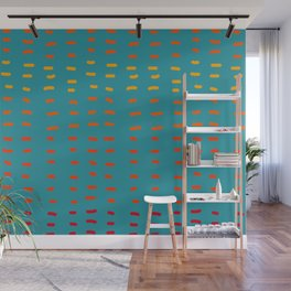 Fiesta at Festival - Turquoise and Orange  Wall Mural