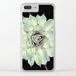 Sempervivum Eye 02 Clear iPhone Case