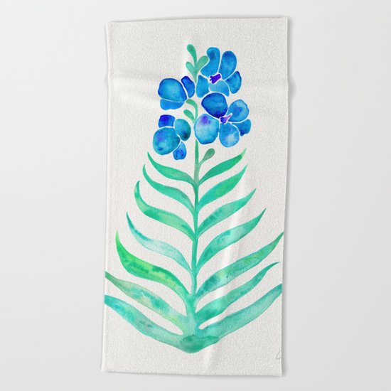 Blooming Orchid – Mint & Blue Palette Beach Towel
