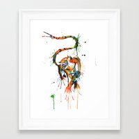 cassia beck Framed Art Prints featuring Beck the Tiger by Andriolo