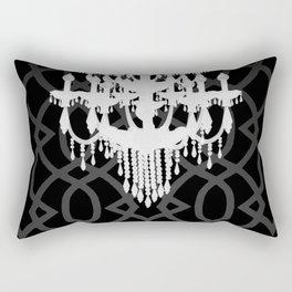 Chandelier Silhouette & Imperial Trellis Rectangular Pillow