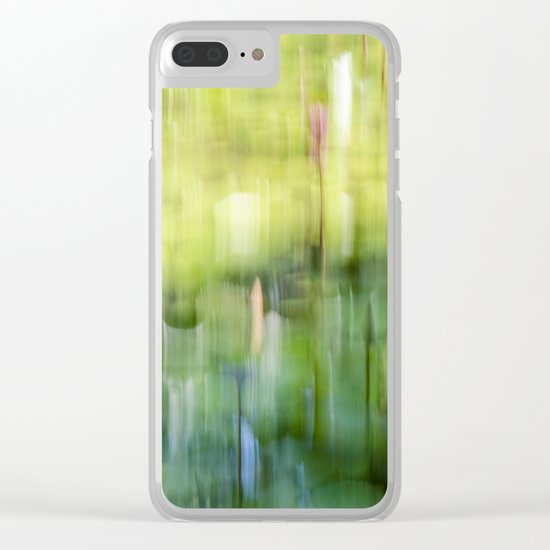 Tropical Impressionism - Lily Pond Clear iPhone Case