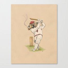 Gentleman Koala Batsman. Canvas Print