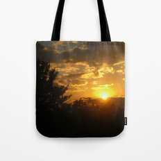 Silhouette Sunset Tote Bag