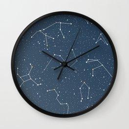 Star night constellations Wall Clock