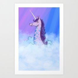Unicorn Giraffe Art Print
