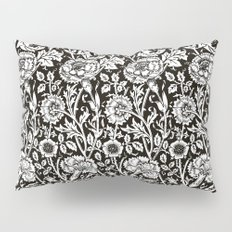 William Morris Carnations | Black and White Floral Pattern Pillow Sham