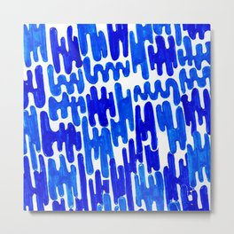 Blue Frizz Metal Print