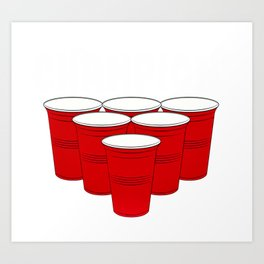 Beer Pong Champion Art Print