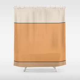 Apricot Color Block Shower Curtain