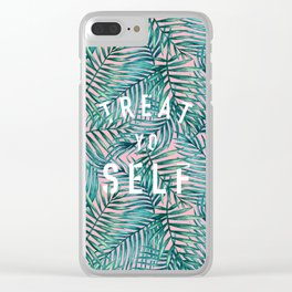 Treat Yo Self (Palm Print) Clear iPhone Case