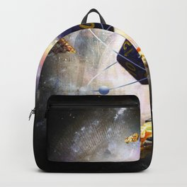 Space Dungeon D20 Gaming Dice Planet With Pizza Backpack