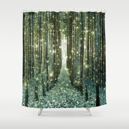 Magical Forest Old Money Green Shower Curtain