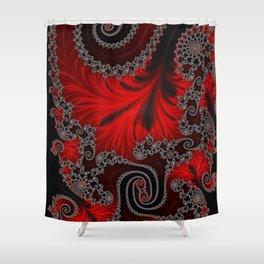 Lava Flow - Fractal Art Shower Curtain