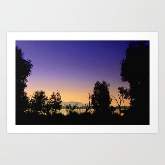 Lake Fyans - Australia Art Print