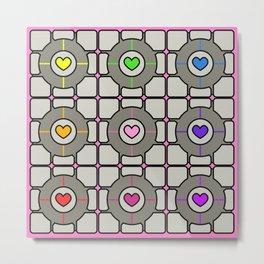 Companion Cubes Metal Print