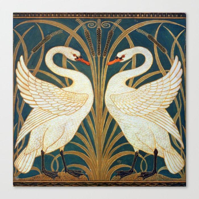 Walter Crane Swan, Rush And Iris Leinwanddruck
