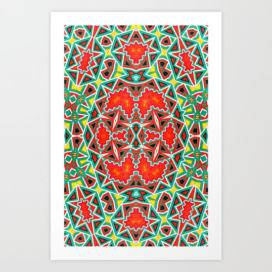 LCD Pattern Art Print