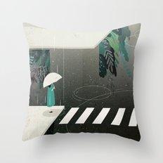 let it rain Throw Pillow