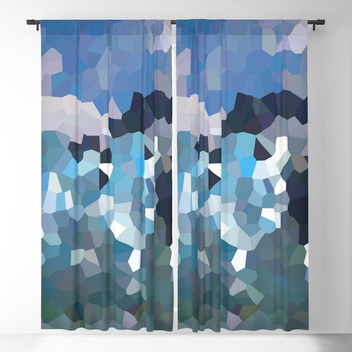 Cubistic icebergs Blackout Curtain