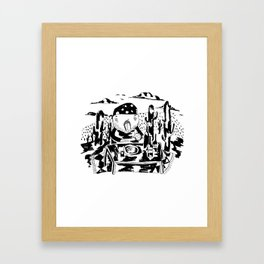 Cactus lunch Framed Art Print