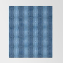 Denim Diamond Waves vertical patten Throw Blanket