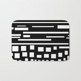cuadrados y líneas Bath Mat