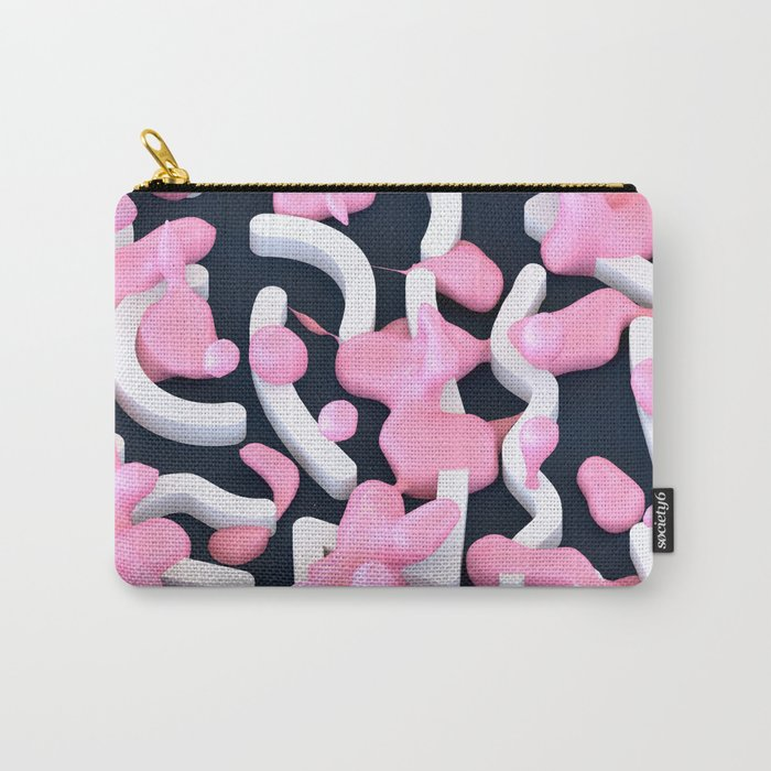 Pink Bubble Pattern Carry-All Pouch