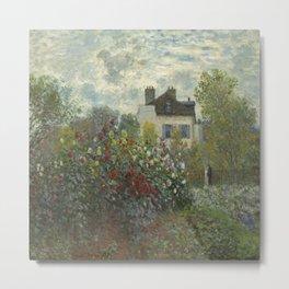 Claude Monet's The Garden at Argenteuil (The Dahlias) Metal Print