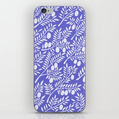 Olive Branches – Periwinkle iPhone Skin