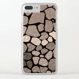 Stone texture 2 Clear iPhone Case