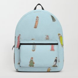 Jane Austen characters Backpack
