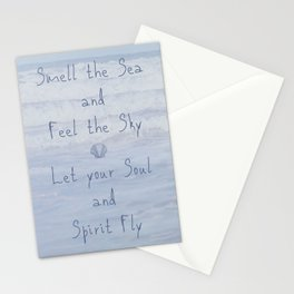 'Smell the Sea' Inspirational Quote Stationery Cards
