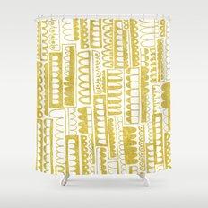 Golden Doodle humpy Shower Curtain