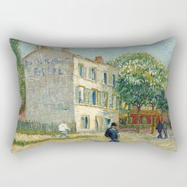 The Restaurant Rispal in Asnières Rectangular Pillow