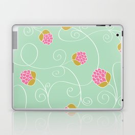 Raspberry Patch Aqua Laptop & iPad Skin